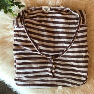 2/$20 Aritzia Wilfred oversized stripe long sleeve